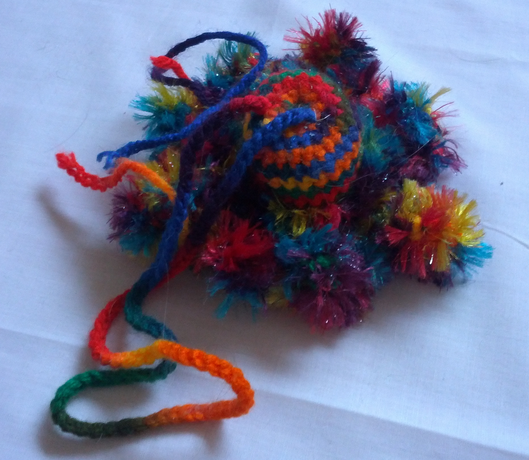 Jingle Jangle Crocheted Cat Toy Del Roba Creations